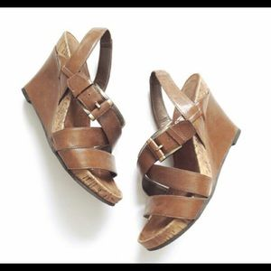 Aerosoles Dove Plush Wedge Sandals 9.5
